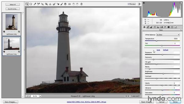 Adjusting the Exposure value: Photoshop CS5 One-on-One: Advanced