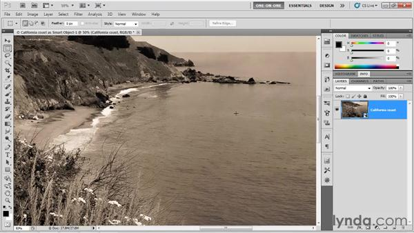 Opening a raw image as a Smart Object: Photoshop CS5 One-on-One: Advanced