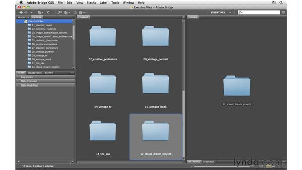 Using the exercise files: Photoshop CS5: Creative Compositing
