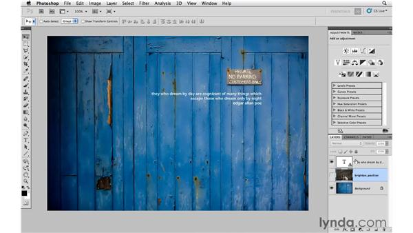 Combining layers with blending modes: Photoshop CS5: Creative Compositing