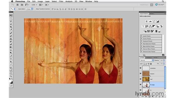 Creating a flamenco dancer advertisement: Photoshop CS5: Creative Compositing