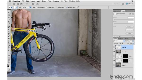 Cleaning up the details: Photoshop CS5: Creative Compositing