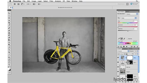 Modifying color and tone: Photoshop CS5: Creative Compositing