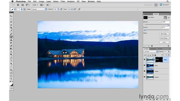 Increasing drama and visual interest: Photoshop CS5: Creative Compositing