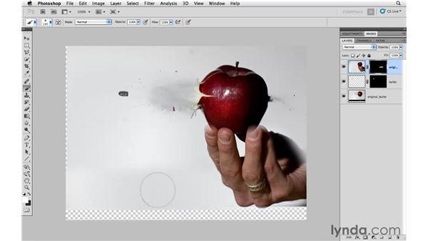Masking multiple images together: Photoshop CS5: Creative Compositing