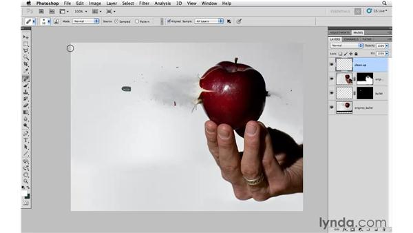 Extending the canvas and adding elements: Photoshop CS5: Creative Compositing