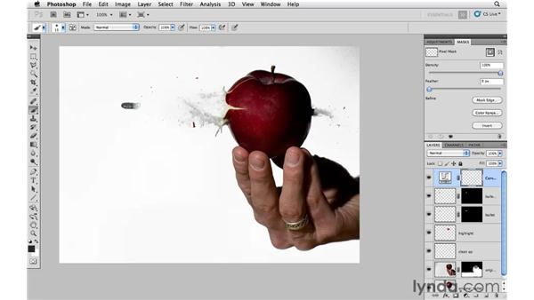 Cleaning up the background: Photoshop CS5: Creative Compositing