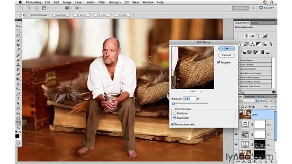 Project 2: Adding film grain: Photoshop CS5: Creative Compositing