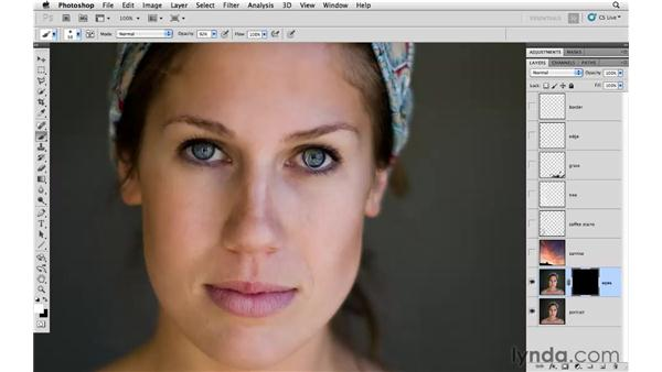 Illuminating the eyes: Photoshop CS5: Creative Compositing