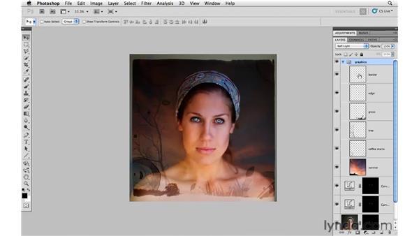 Blending graphics with photos: Photoshop CS5: Creative Compositing