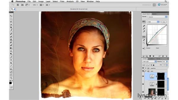Making final color modifications: Photoshop CS5: Creative Compositing