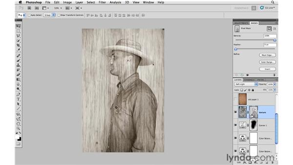 Adding texture: Photoshop CS5: Creative Compositing