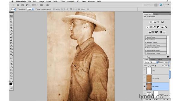 Modifying texture: Photoshop CS5: Creative Compositing
