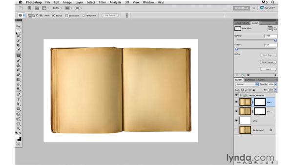 Removing the words from the book: Photoshop CS5: Creative Compositing