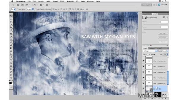 Adding and modifying typography: Photoshop CS5: Creative Compositing