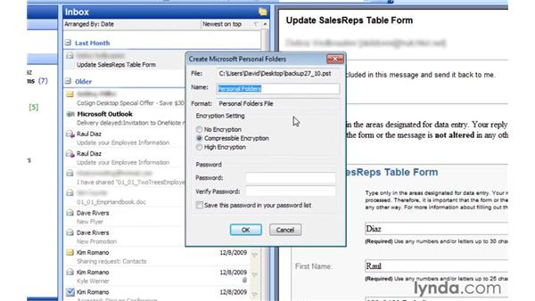 Using Import and Export to transfer your .pst file: Migrating from Outlook 2003 to Outlook 2010