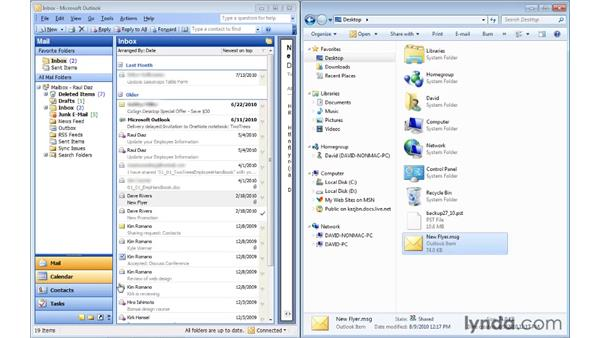 Backing up individual items: Migrating from Outlook 2003 to Outlook 2010