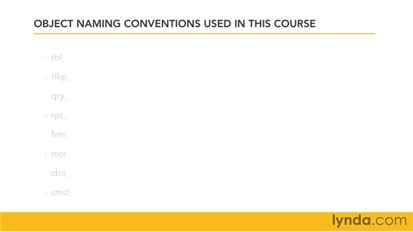 Naming conventions and best practices: Access 2007: Queries in Depth