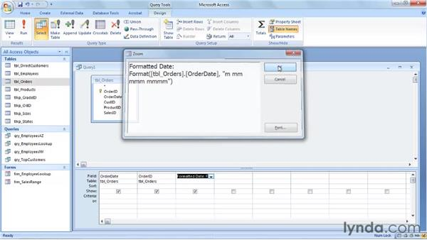 Using the Format function: Access 2007: Queries in Depth