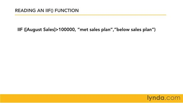 Introduction to the conditional IIf function: Access 2007: Queries in Depth
