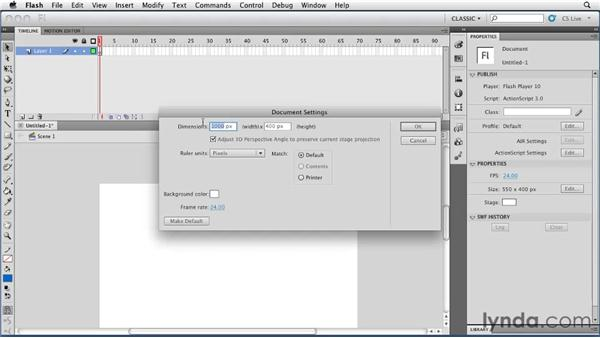 Getting familiar with the workspace: Flash Professional CS5: Animation Projects