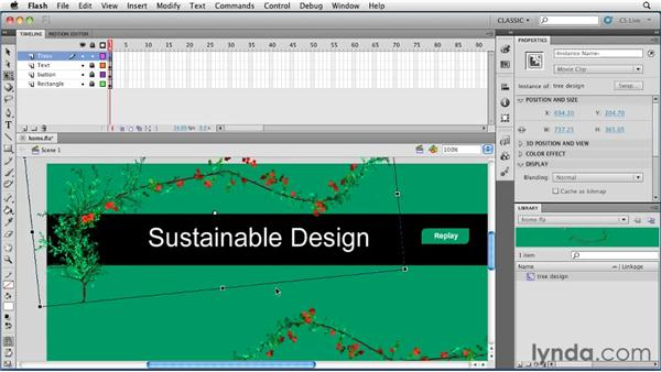 Creating reusable assets: Flash Professional CS5: Animation Projects
