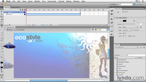 Animating along a path: Flash Professional CS5: Animation Projects
