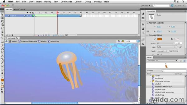 Morphing shapes: Flash Professional CS5: Animation Projects