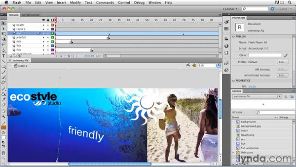 Animating objects in 3D: Flash Professional CS5: Animation Projects