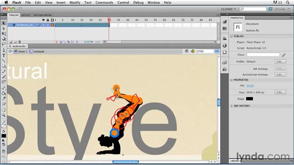 Animating character poses: Flash Professional CS5: Animation Projects