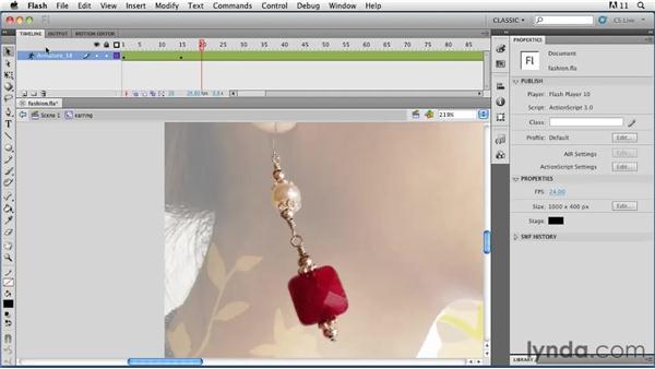 Adding springiness: Flash Professional CS5: Animation Projects