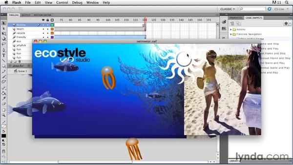 Controlling the Timeline with ActionScript: Flash Professional CS5: Animation Projects