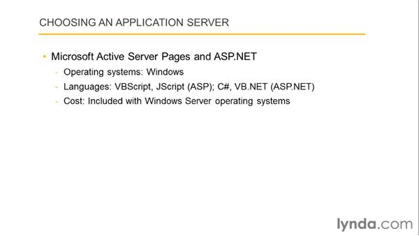 Selecting application and database servers: Dreamweaver with PHP and MySQL