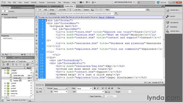 Understanding PHP custom classes: Dreamweaver with PHP and MySQL
