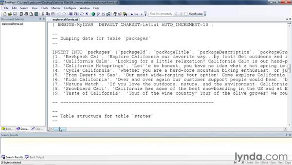 Importing a completed database from a script: Dreamweaver with PHP and MySQL