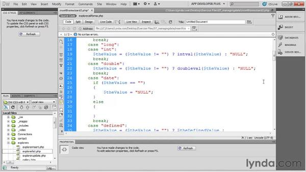 Formatting dates for SQL: Dreamweaver with PHP and MySQL