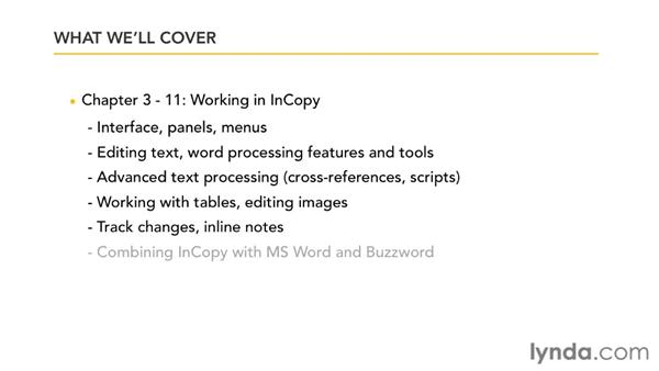 Overview of this course: Collaborative Workflows with InDesign and InCopy