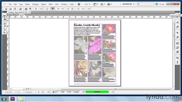 Becoming familiar with default panels: Collaborative Workflows with InDesign and InCopy
