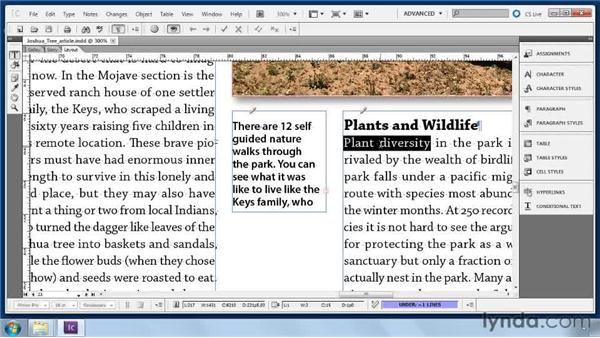 Copyfitting text: Collaborative Workflows with InDesign and InCopy