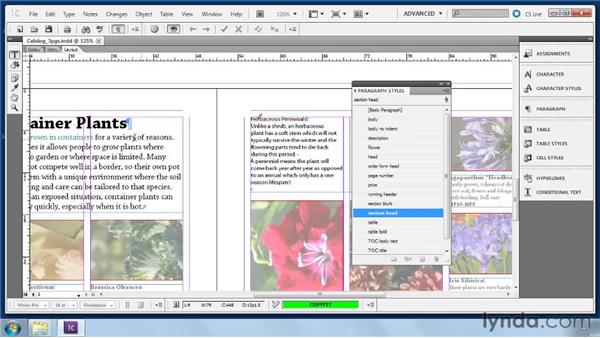 Applying styles for copyfit: Collaborative Workflows with InDesign and InCopy