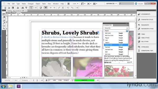 Applying local character formatting: Collaborative Workflows with InDesign and InCopy