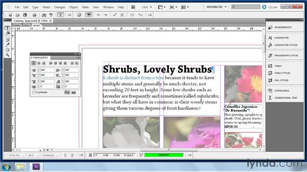 Applying local paragraph formatting: Collaborative Workflows with InDesign and InCopy