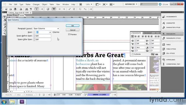 Splitting and spanning columns: Collaborative Workflows with InDesign and InCopy