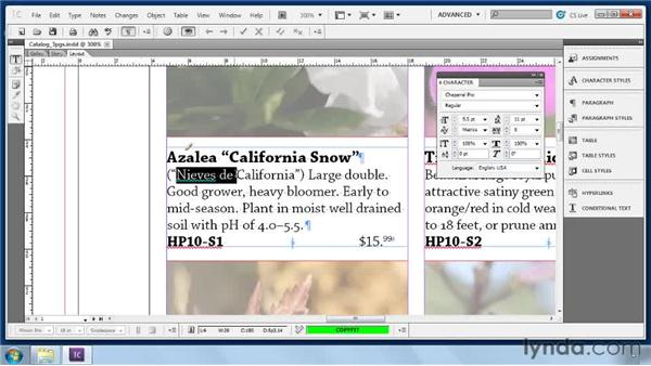 Using the language dictionaries: Collaborative Workflows with InDesign and InCopy