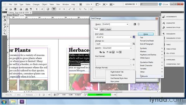 Using Find/Change: Collaborative Workflows with InDesign and InCopy