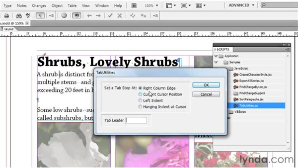 Working with built-in scripts: Collaborative Workflows with InDesign and InCopy