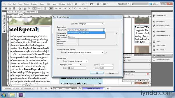 Inserting cross-references: Collaborative Workflows with InDesign and InCopy