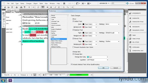 Customizing the markup: Collaborative Workflows with InDesign and InCopy