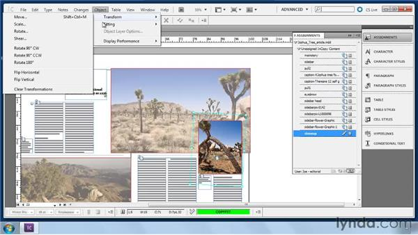 Using the Object menu: Collaborative Workflows with InDesign and InCopy