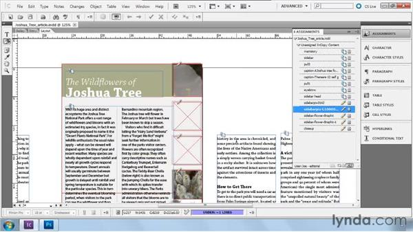 Importing and replacing images: Collaborative Workflows with InDesign and InCopy